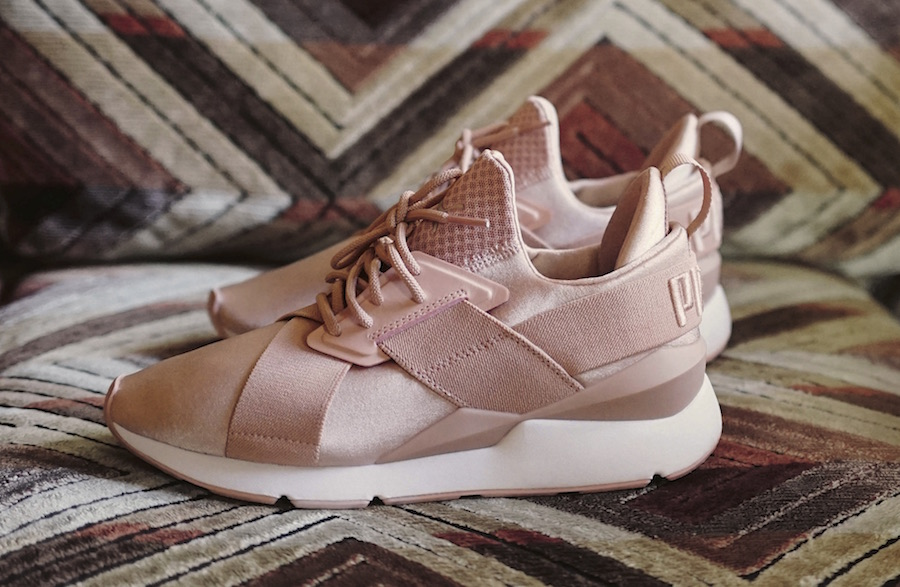 @pumawomen Muse Satin EP in Soft Pink