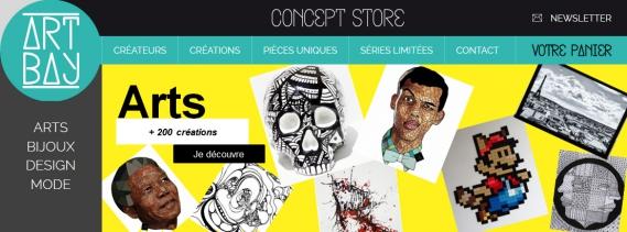 Artbay-Concept-Store Artbay Le Concept store online de créations françaises