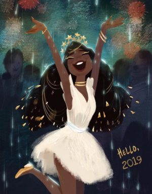 Bonne annee 2019 aissata Timodelle paris happy new year