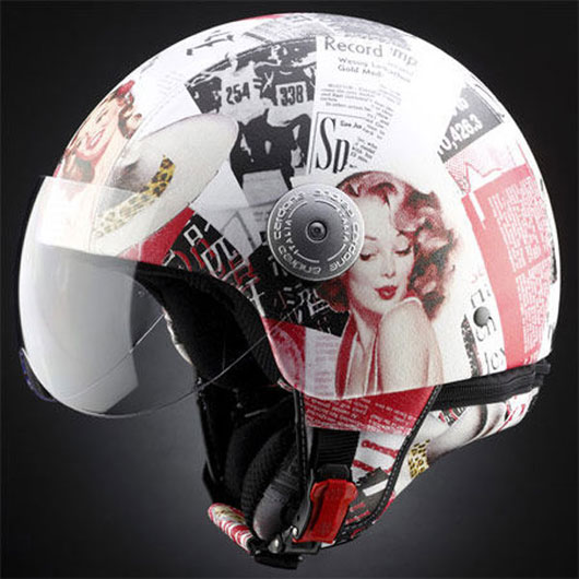 Casque de scooter Marilyn Andrea Cardone
