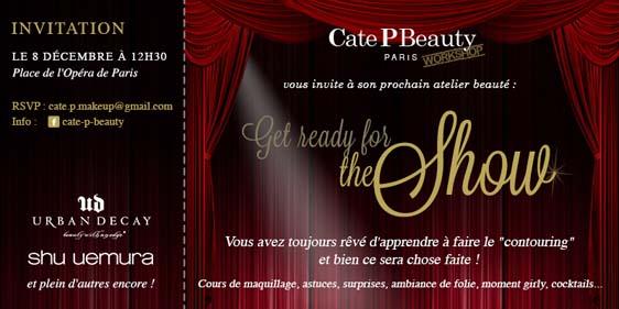 Cate P Beauty Worshop Paris invitation
