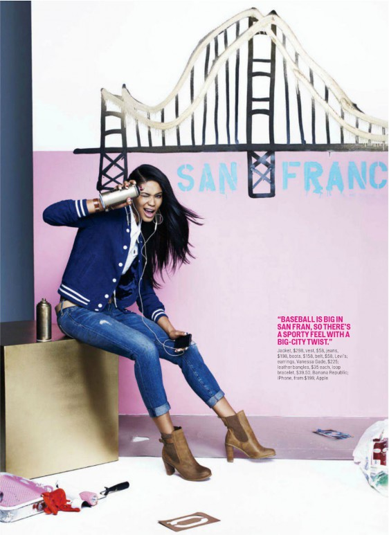 Chanel Iman Cosmopolitan USA   March   e
