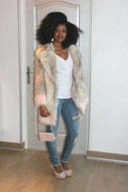 Colored Faux Fur River Island