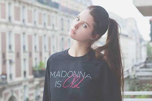 Madonna is old : Le nouveau sweat Florette Paquerette