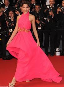 Freida Pinto gucci dress cannes
