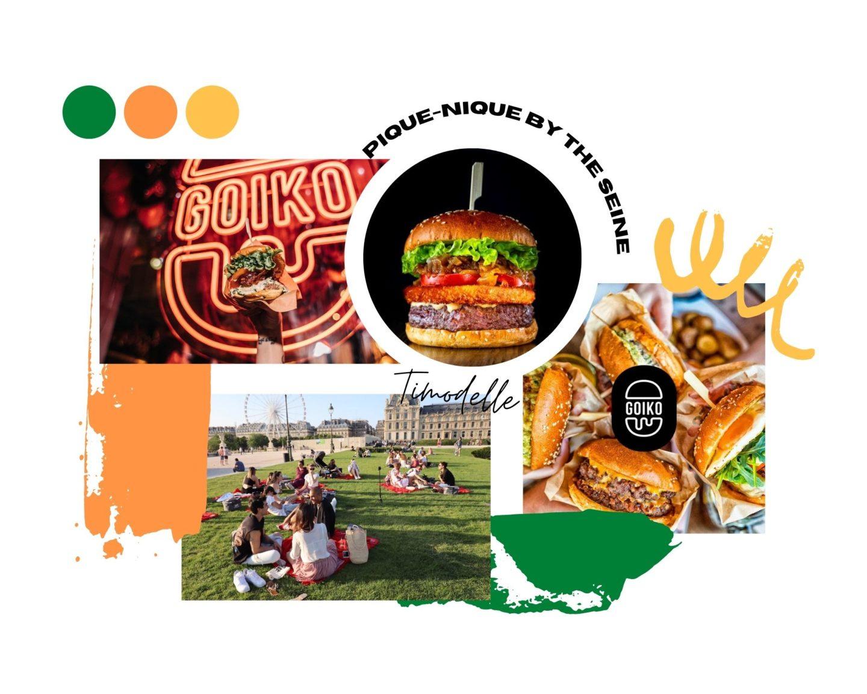 Goiko burger pique nique by the seine paris richelieu 2021
