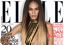 Joan Smalls pour Elle US par Michael Thompson