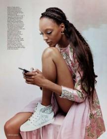 Jourdan Dunn for Vogue UK October