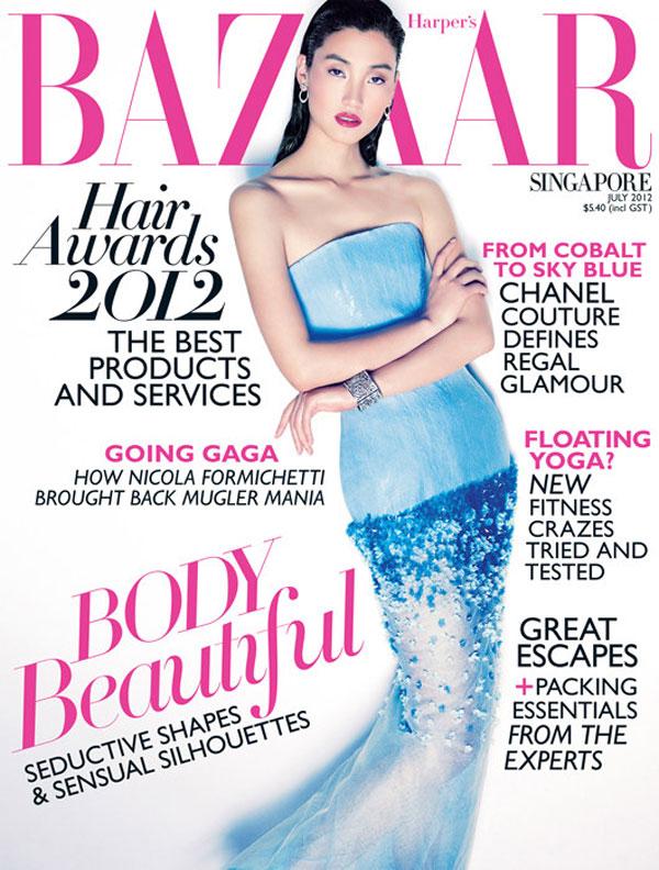 Lina-Zhang-Harpers-Bazaar-Singapore Lina Zhang en couv' d'Harper's Bazaar Singapore