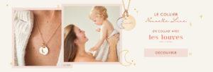 Merci Maman Les Louves collier nouvelle lune personnalise header