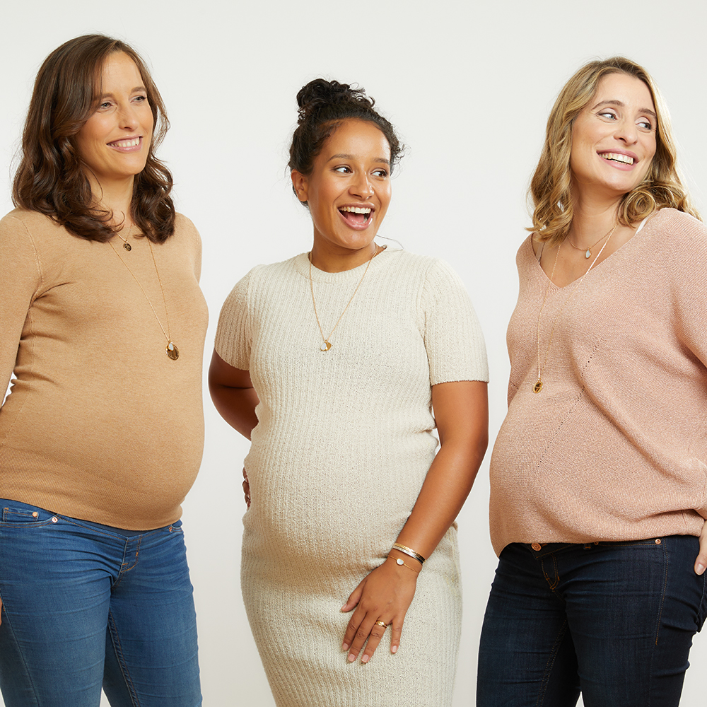 Merci Maman Les Louves collier nouvelle lune personnalise maternité