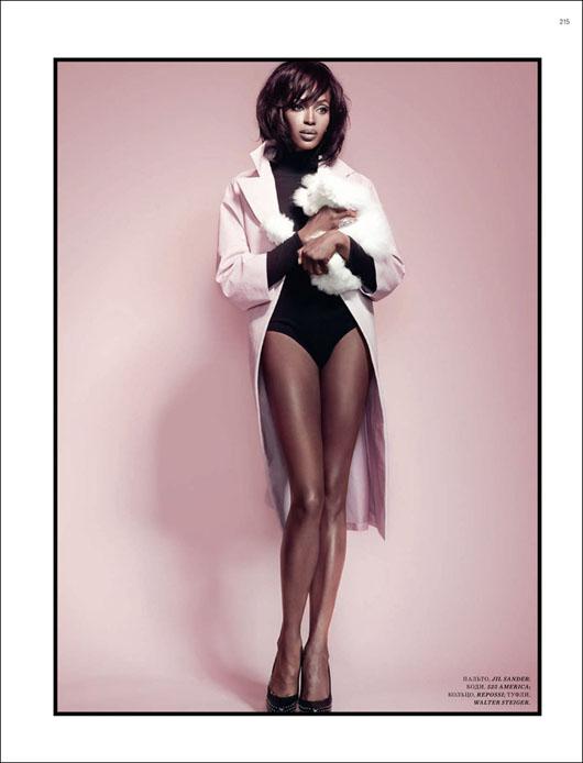 Naomi Campbell Harpers Bazaar Russia