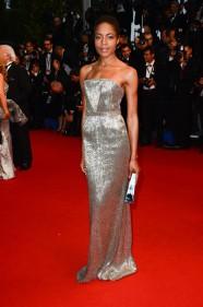 Naomie Harris calvin klein collection dress cannes