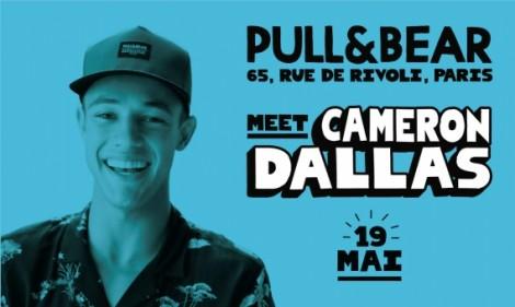 PullBear flagship paris Cameron Dallas opening