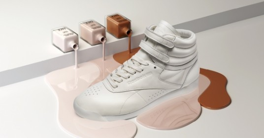 Reebok FACE Stockholm Freestyle Sneakers Milky White