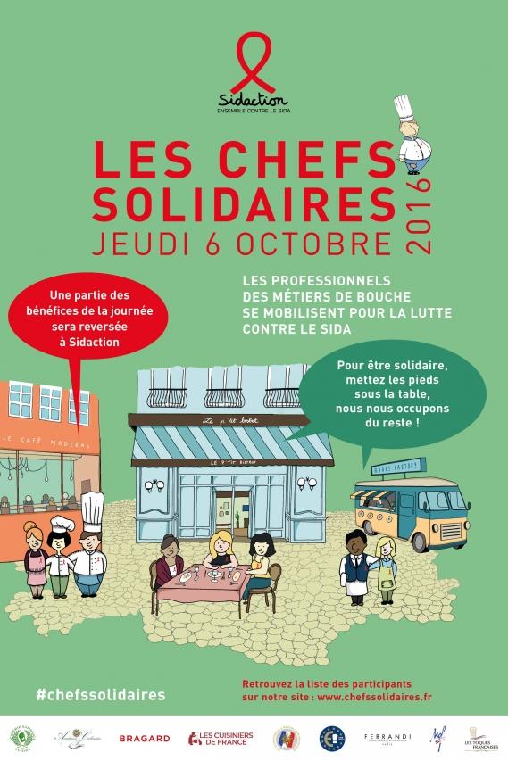 SIDACTION-affiche_chefs_solidaires Sidaction : 8ème édition de l'opération Chefs Solidaires