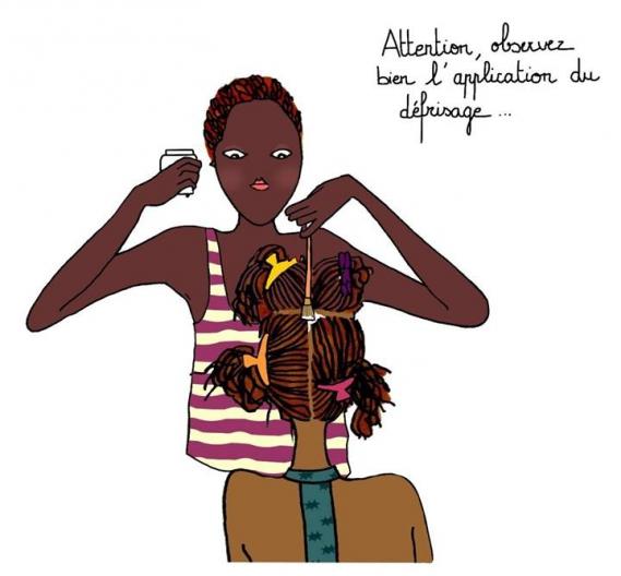 SandrineJeanneRose_Defrisage_Soins Sandrine Jeanne-Rose expert care of Black and Mixed beauties