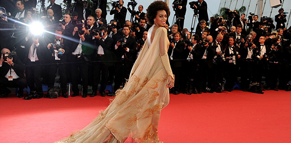 Solange Knowles Stéphane Rolland Couture  Cannes Film Festival Opening Ceremony The Great Gatsby Premiere une