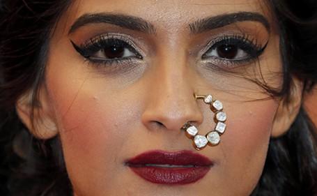 Sonam Kapoor ring nose cannes