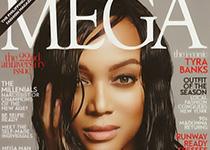 Tyra Banks en couv' de Mega Magazine février 2014
