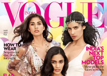 Ashika Pratt, Alyssah Ali et Jessica Clark en couv' du Vogue India de mars 2012