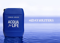 Giorgio Armani Acqua for Life 1 Day on 10 Liters Challenge