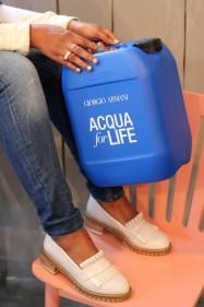 acqua for life giorgio armani  influencer aissata