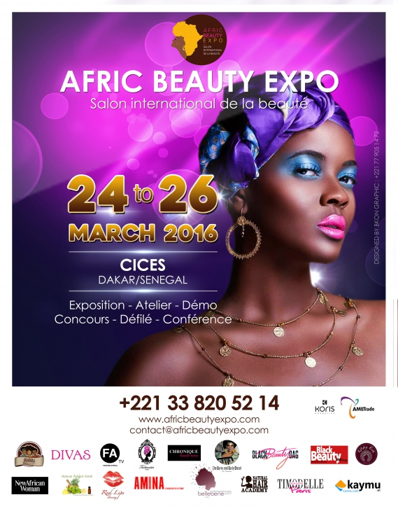 afric-beauty-expo-dakar Rendez-vous au Salon Afric Beauty Expo du 24 au 26 Mars à Dakar