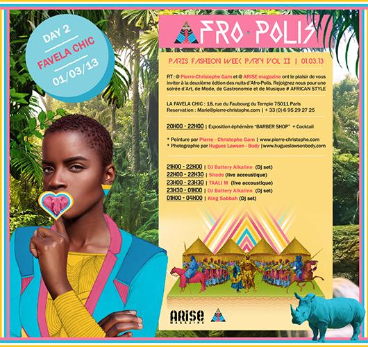 Soirée Afro-polis à l'Embuscade et La Favela Chic
