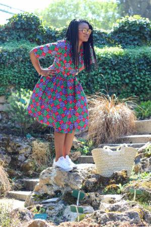 aissata in wonderland robe wax turbanista paris 02