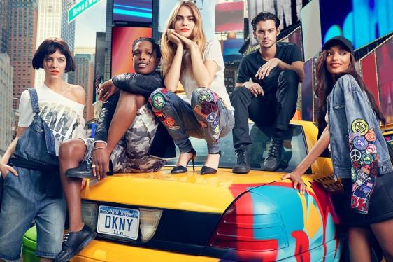 A$AP Rocky, Cara Delevingne & Jourdan Dunn pour la campagne DKNY 2014
