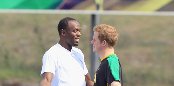 Le Prince Harry défie Usain Bolt