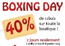 Boxing Day chez Fringues & Cie : les 7 et 8 janvier 2013, 40% de rabais sur toute la boutique !