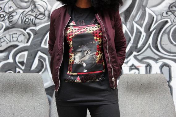 call-me-x-by-amy-bamba-malcolm-tee-09 Call Me X : L'Art à Porter pour promouvoir l'Histoire Noire