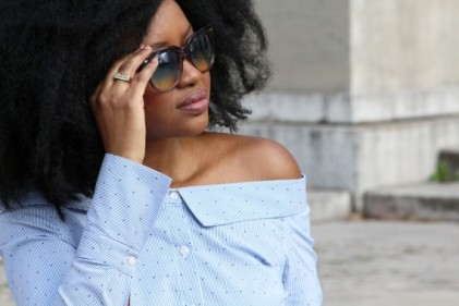 chemise bardot off the shoulder epaules hello spring fashion blog