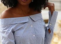 chemise bardot off the shoulder epaules hello spring fashion blog Home