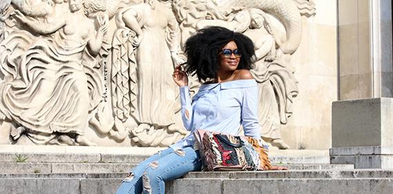 chemise bardot off the shoulder epaules hello spring fashion blog Une