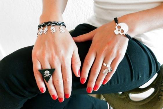 chiaradeco bracelet tresse noir argent e