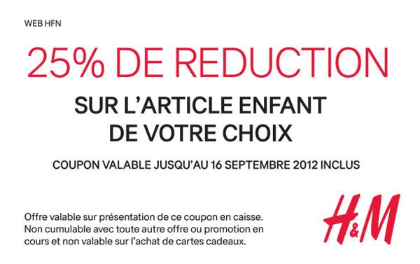 coupon_hm_timodelle Coupon 25% de réduction sur le catalogue pour enfants H&M Automne 2012