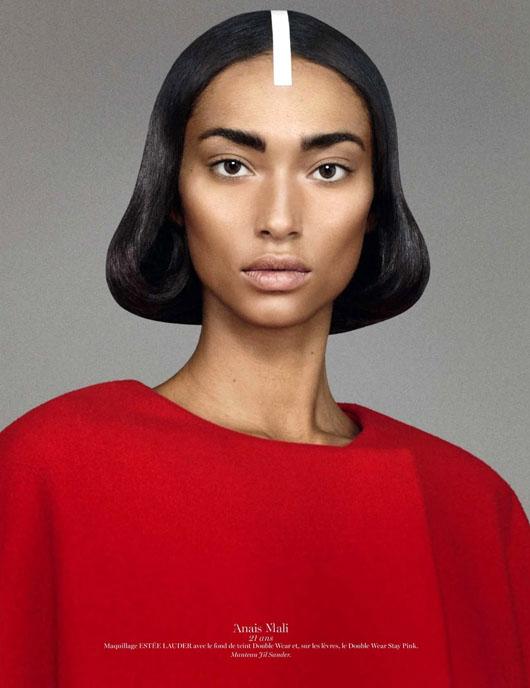 figure-caractere-vogue-paris-01 Anaïs Mali par David Sims pour Vogue Paris, Novembre 2012