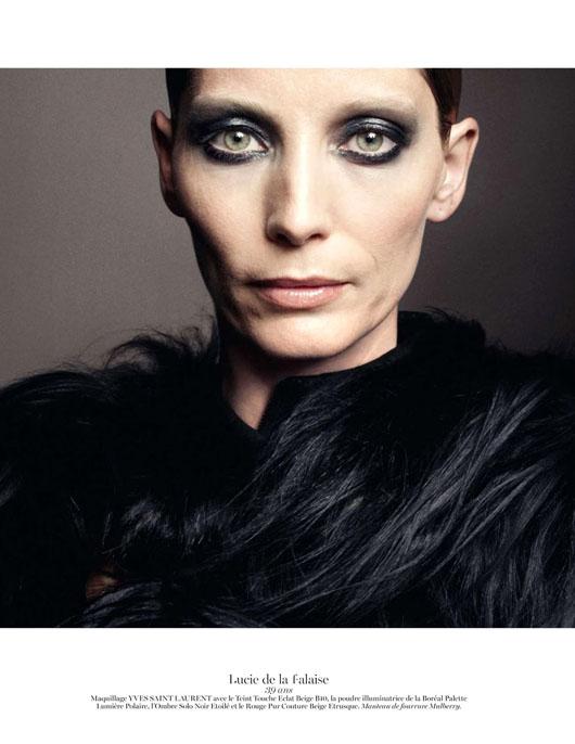 figure-caractere-vogue-paris-08 Anaïs Mali par David Sims pour Vogue Paris, Novembre 2012