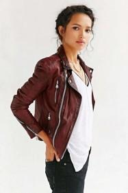 indispensables automne perfecto veste cuir rouge