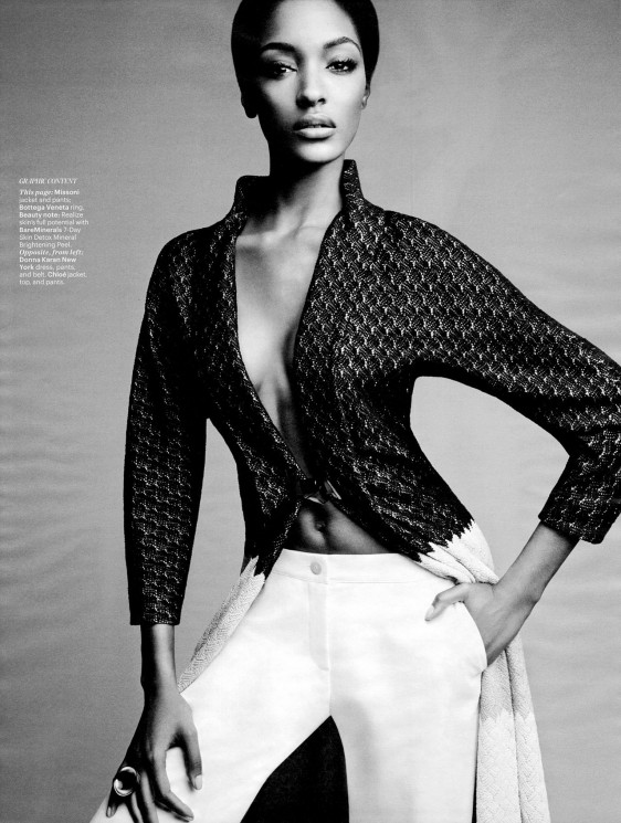 Jourdan Dunn & Joan Smalls par Patrick Demarchelier pour W magazine