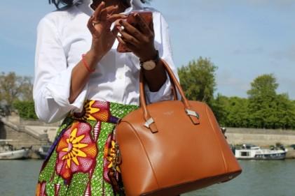 jupe wax turbanista paris chemise cafe coton fingersymbols african chic