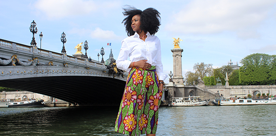 jupe wax turbanista paris chemise cafe coton fingersymbols african chic Une