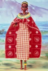 kenya black african doll barbie masai