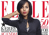Kerry Washington en couv' du magazine ELLE US