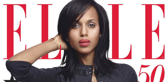 kerry washington elle magazine june une