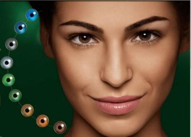 lentilles de contact de couleurs Air optix Colors des Laboratoires Alcon Consumer