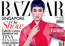 Liu Wen en couv' d' Harper's Bazaar Singapore